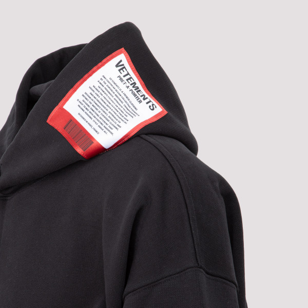 Vetements logo patch hoodie