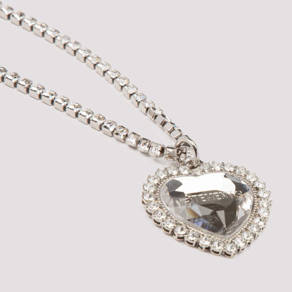 Vetements crystal heart necklace