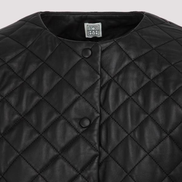 Toteme quilted leather jacket
