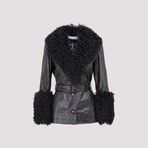 Saks Potts shearling shorty...