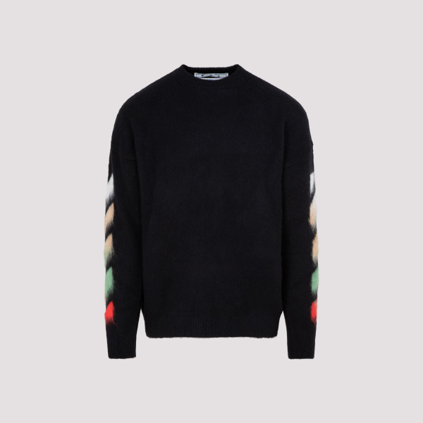 Off White Diag brushed crew...
