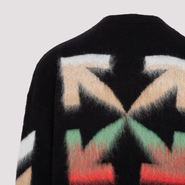 Off White Diag brushed crew neck