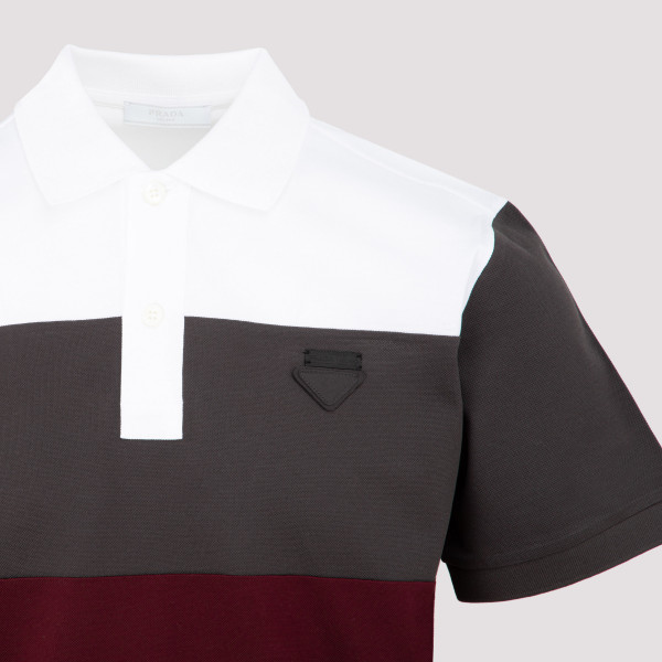 Prada piquet patch logo polo