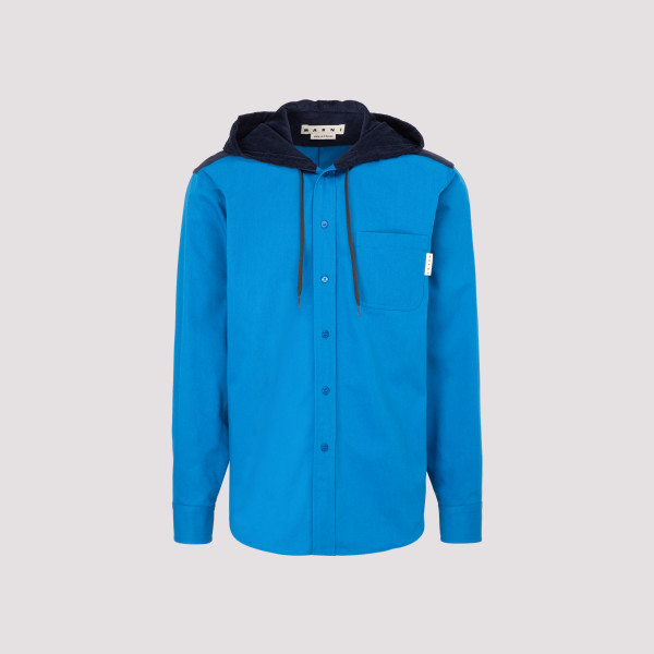 Marni long slevees hooded shirt
