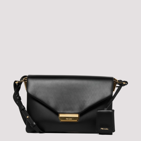 Black leather Flap Shoulder...