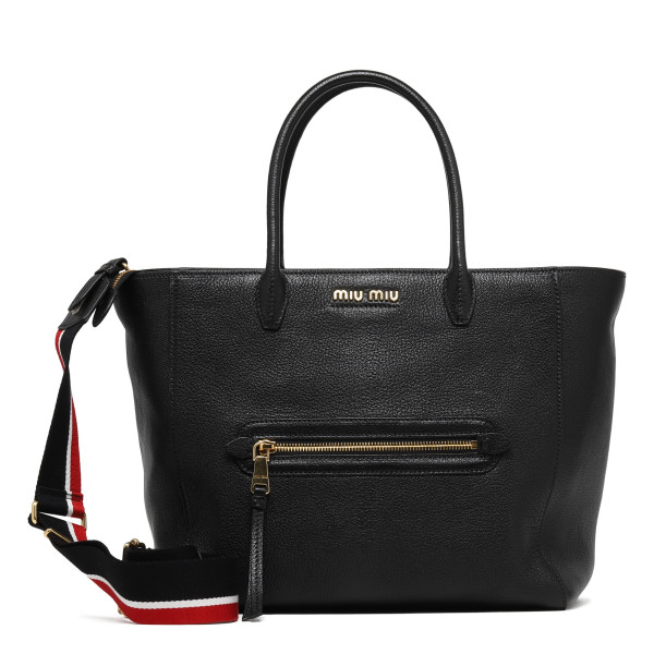 Black madras handbag
