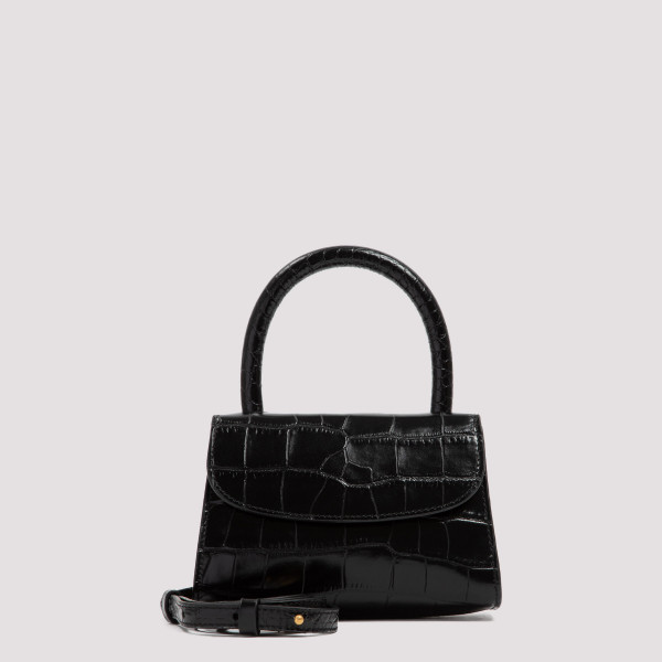 Croco mini leather bag