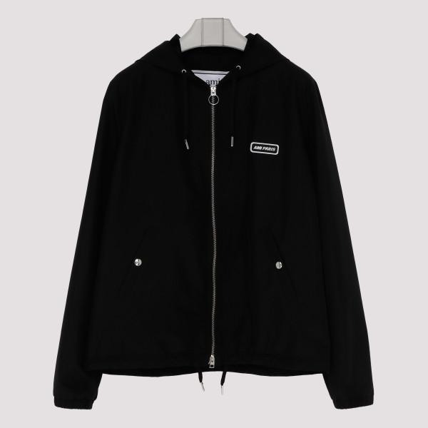 Hooded black jacket