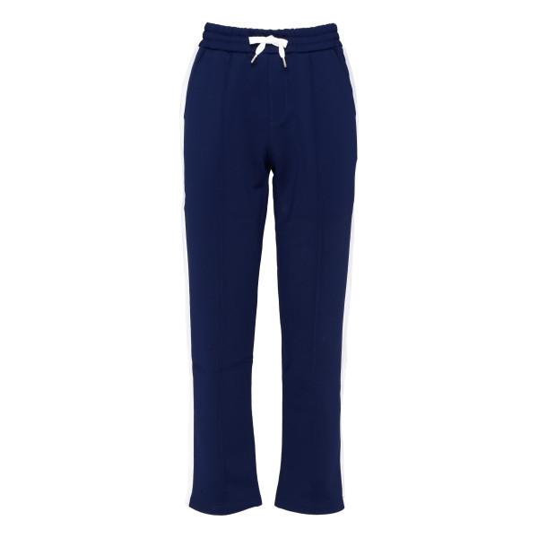Blue cotton-blend track pants