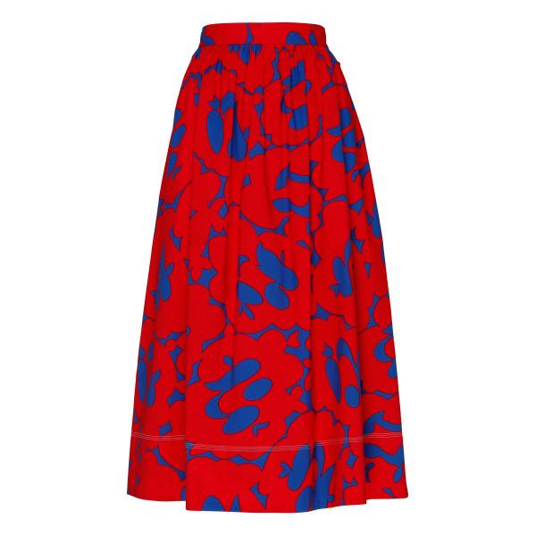 Floral midi printed skirt