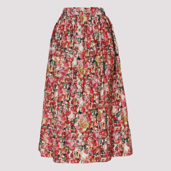 Full Floral midi printed skirt