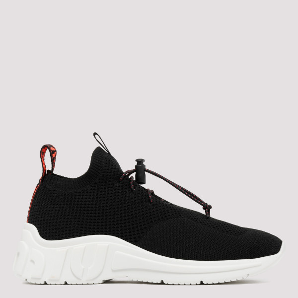 Black technical knit sneakers