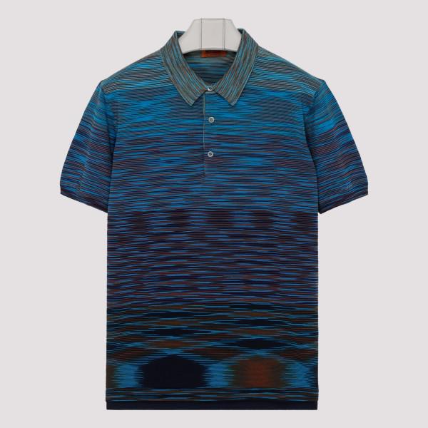 Blue Polo cotton T-shirt