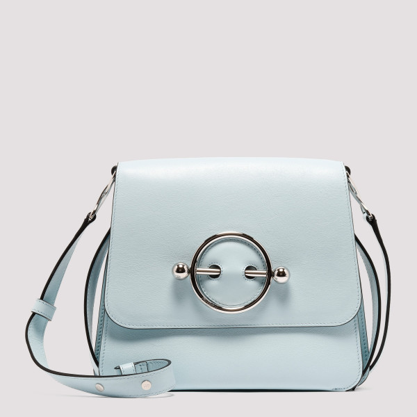 Ice blue Disc Leather Crossbody Bag