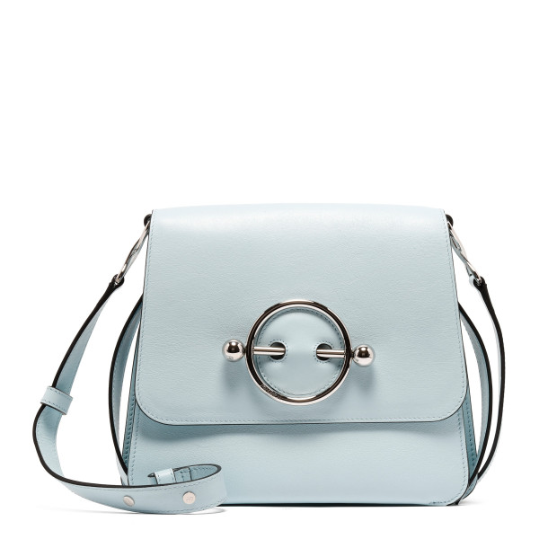 Ice blue Disc Leather Crossbody Bag