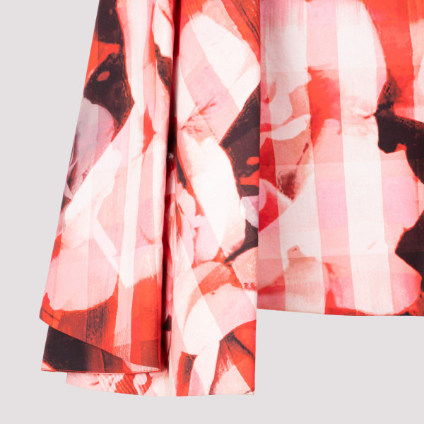 Alexander McQueen Rose Check Skirt