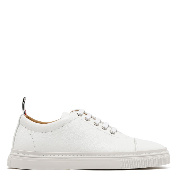 White leather 4-Bar sneakers