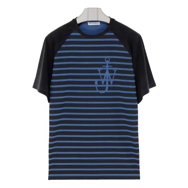 Indigo Anchor striped T-shirt