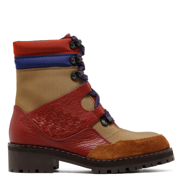 Multicolor leather boots