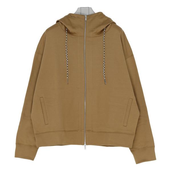 Beige cotton hoodie
