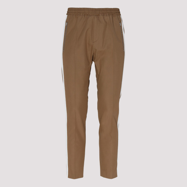 Brown cotton track pants