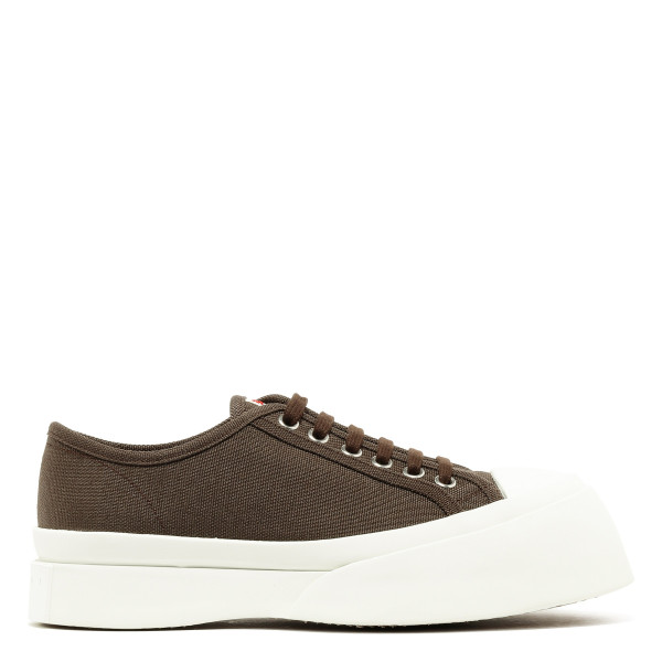 Brown platform sneakers