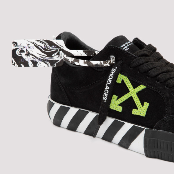 Off-White Suede Low Vulcanized Sneakers