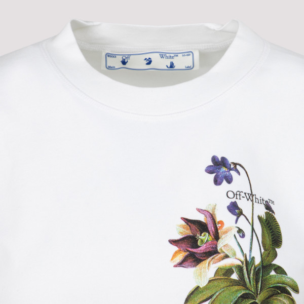Off-White Botanical Arrows Cropped T-Shirt