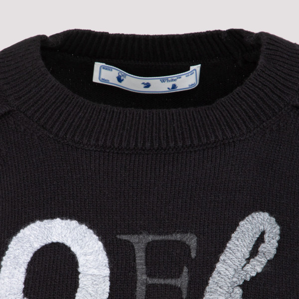 Off-White Logo Embroidery Sweater