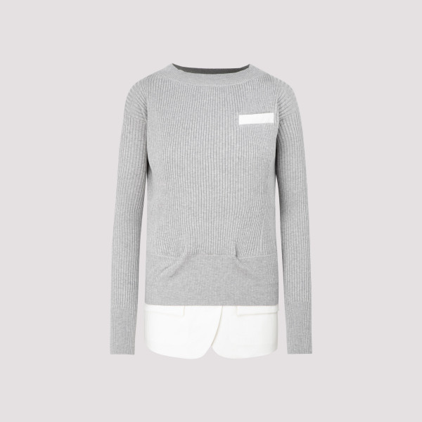 Sacai x Knit Suiting Pullover