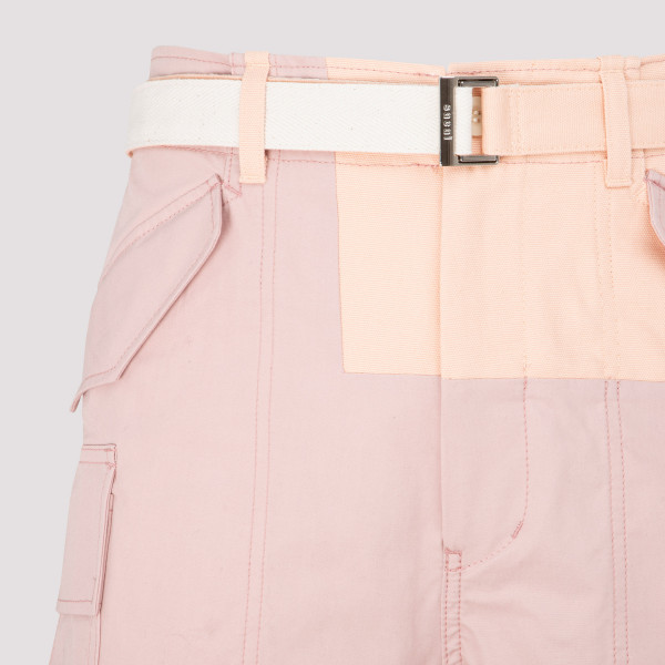 Sacai Cotton Nylon Oxford Shorts