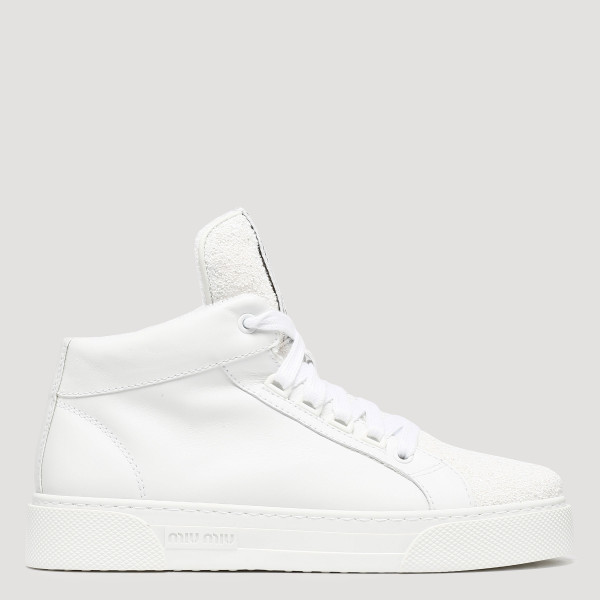 White logo glitter high-top...