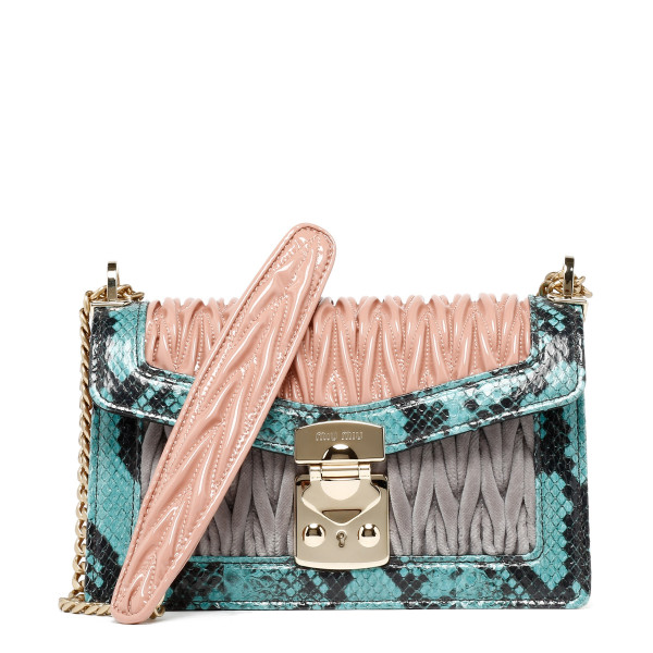 Miu confidential leather and ayers bag