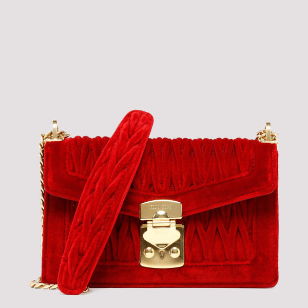 Red Miu confidential velvet...