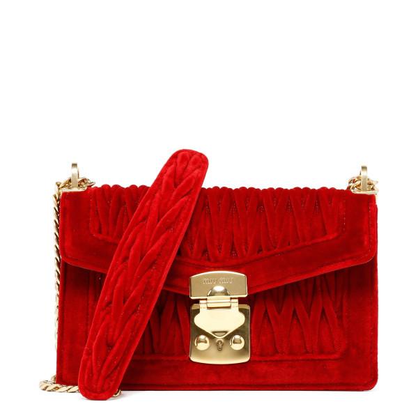 Red Miu confidential velvet bag