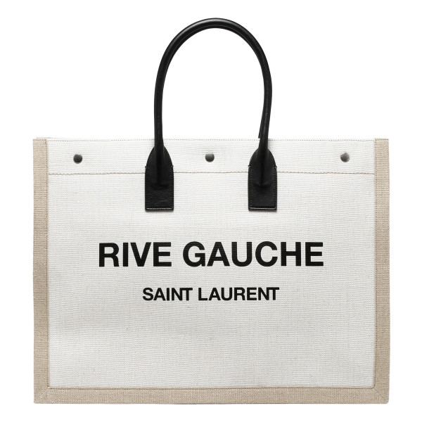 Rive Gauche linen and leather bag