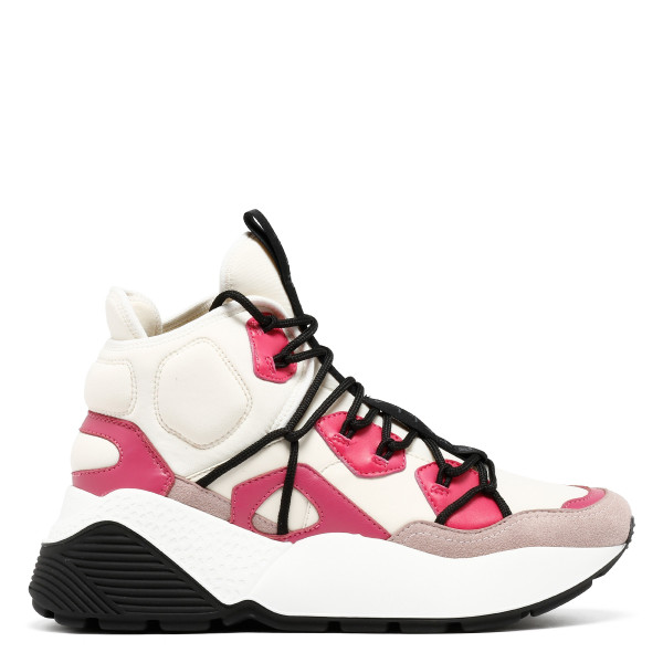 White and pink Eclypse  sneakers