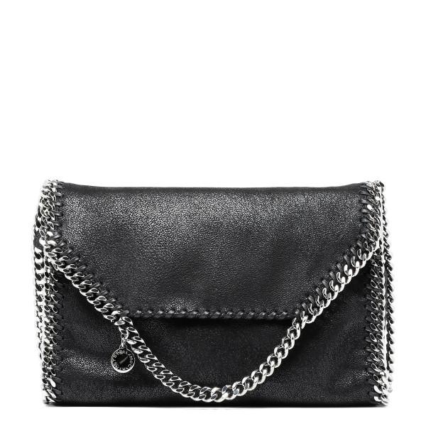 Black Falabella faux-suede tote bag