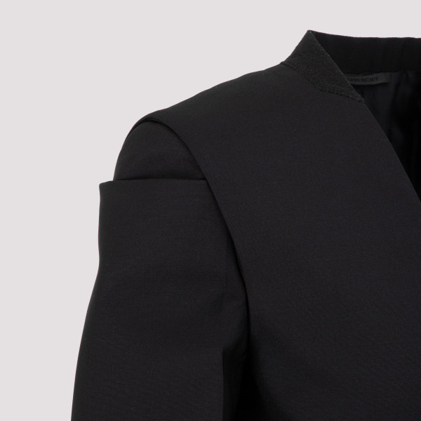 Givenchy Collarless Jacket In Wool And Mohair