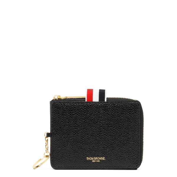 Black zip around coins wallet