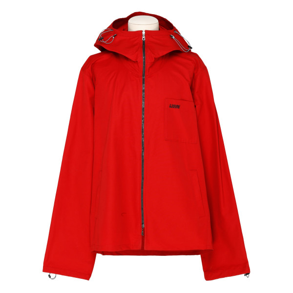 Red cotton-blend jacket