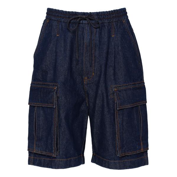 Blue denim bermuda shorts