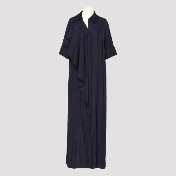 Navy ruffled maxi dress