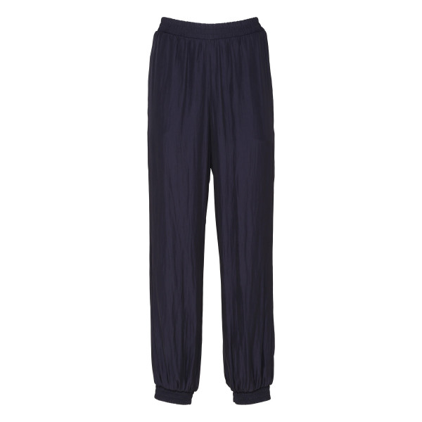 Navy tapered track pants