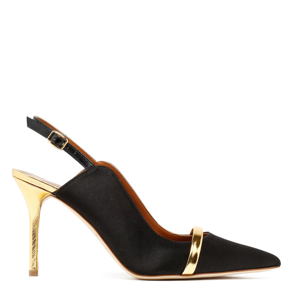 Marion black suede slingback mules