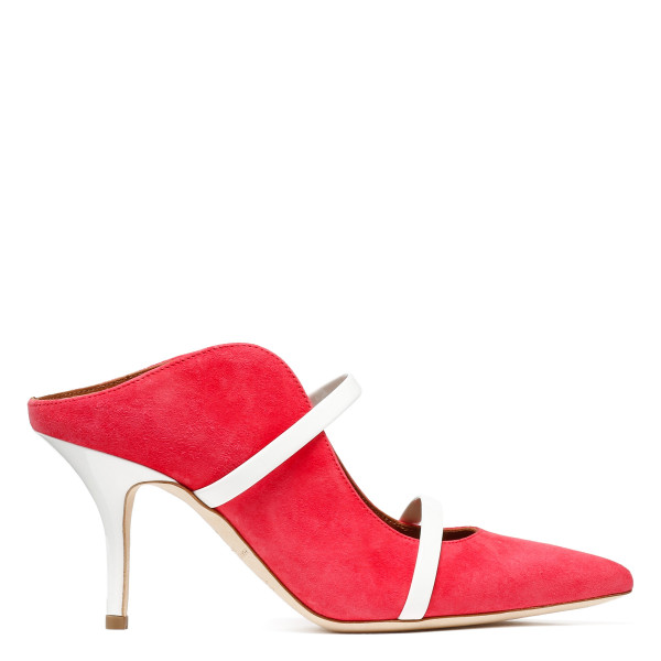 Maureen pink and white mules