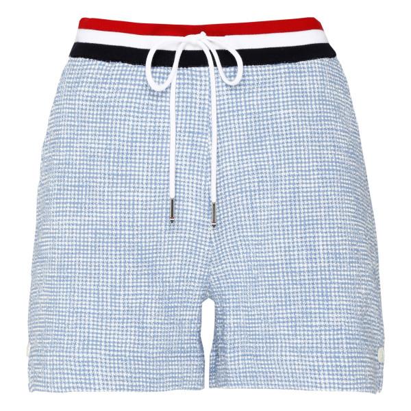 Light blue tweed shorts
