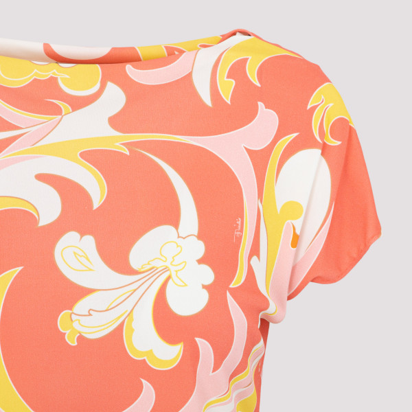 Emilio Pucci Lilly Print Top