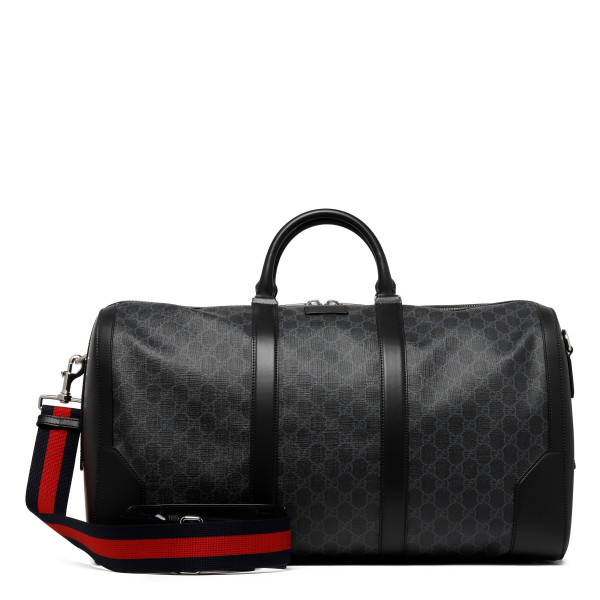 Black Soft GG Supreme carry-on duffle bag