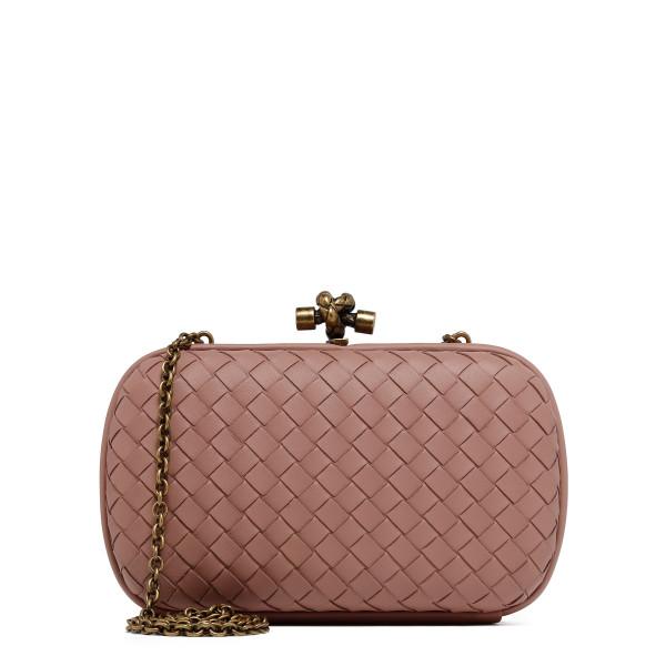 Deco Rose Chain knot bag in intrecciato nappa